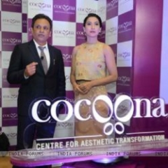 Gauahar Khan at Launch of Cocoona- centre for Asthetic Transformation
